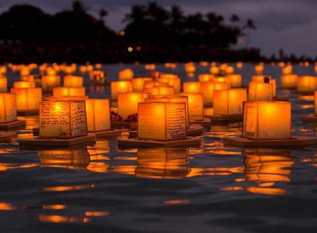 Tōrō-nagashi, le lanterne galleggianti